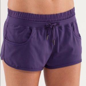 Lululemon Strength and Tone Short Shorts Purple 6